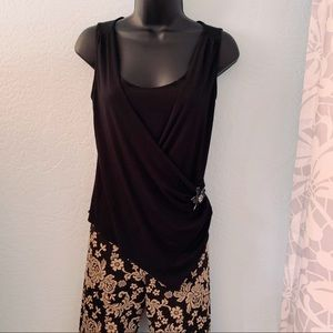 Nicole by Nicole Miller black tank top. Size small